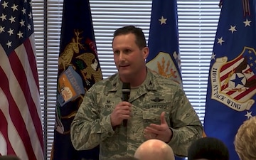 Michigan Air National Guard Chief of Staff Brig. Gen. Teff Speaks on Suicide Prevention