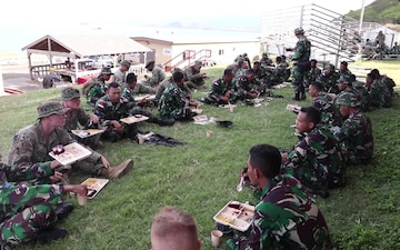 U.S. and Indonesian Marines Chow Down