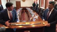 Secretary Esper Meets With Mongolian Minister of Defense