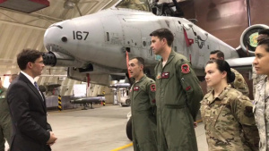 Secretary Esper Meets With Airmen at Osan