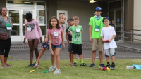 VBS Kids 'POWER UP' at the MCAS Iwakuni chapel (B-Roll)