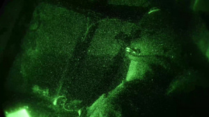 C-130 Nightvision Flight and Landing B-roll