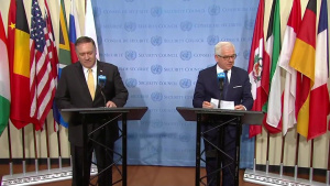 Secretary of State Michael R. Pompeo Holds a Joint Press Conference with Polish FM Jacek Czaputowicz