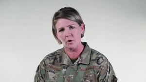 Command Chief Master Sgt. Katie McCool addresses resiliency at Whiteman Air Force Base