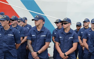 BRoll: Coast Guard Commandant to recognize USCGC Midgett (WMSL 757) for first drug busts
