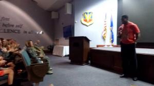 Herschel Walker Visits Robins AFB