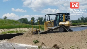 USACE Omaha District Progress on Levee L611-614 Aug. 23, 2019