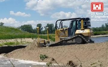 USACE Omaha District Progress on Levee L611-614 Aug. 23, 2019
