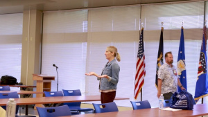 110th Wing Director of Psychological Health Discusses Suicide Prevention Training