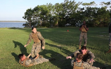 U.S. Marines Endure Culminating Event During Martial Arts Instructors Course