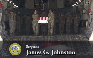 Army Sgt. James G. Johnston - Dignified Transfer