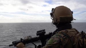 31st MEU Force Reconnaissance Marines execute VBSS exercise aboard USS Ashland