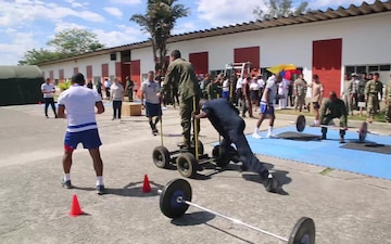 B-Roll: Partner nations participate in a sports competition after multinational exercise in Brazil
