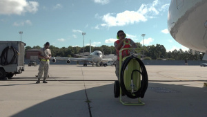 Team JSTARS evacuates E-8C aircraft ahead of Hurricane Dorian