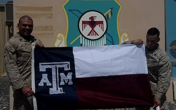 GySgt Mark Bautista and Sgt James Halepaska (USMC) Texas A&M Shout out