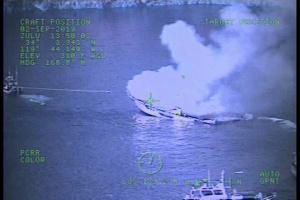 Coast Guard Responds to Conception Boat Fire Near Santa Cruz Island
