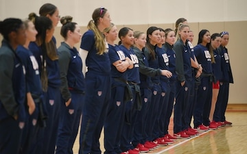 USA Softball Women's National Team visits Matthew C. Perry High School