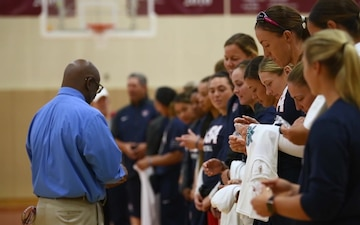 USA Softball Women's National Team visits Matthew C. Perry High School (B-Roll)