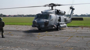 Navy MH-60R Helicopters from Naval Air Station Jacksonville and Naval Station Mayport Return Home After Evacuating to Maxwell AFB in advance of Hurricane Dorian