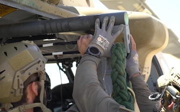 Special Tactics Conducts Fast Rope Insertion Training with Coalition Forces During Eager Lion 19