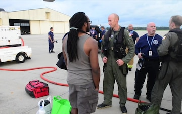 B-roll of medevac in Elizabeth City after Hurricane Dorian
