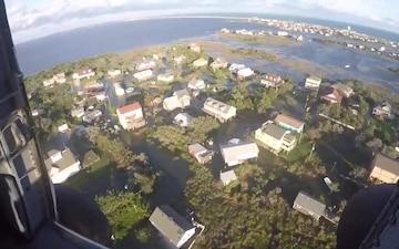 Coast Guard aircrew assesses North Carolina flooding from Hurricane Dorian