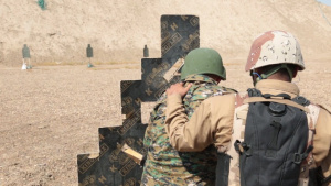 Iraqi Security Forces Live Fire Drills