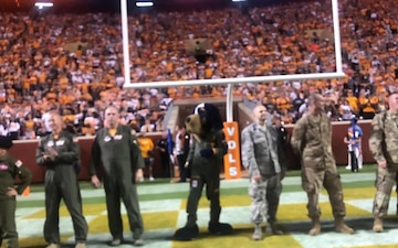 Aircrew Recognized at University of Tennessee Football Game