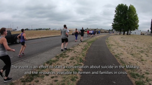 142nd Fighter Wing Airmen Participate in Suicide Awareness Run