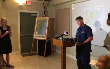 Coast Guard press briefing for disabled cargo vessel in Brunswick