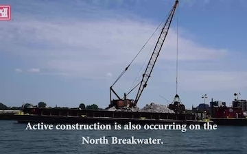 The U.S. Army Corps of Engineers repairs two Breakwaters in Buffalo's outer harbor