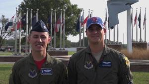 Whiteman Pilots Texas Rangers Shout Out