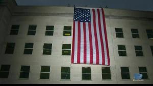 Sunrise Flag Unfurling at Pentagon Marks 9/11 Anniversary