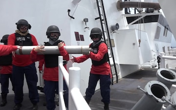 CGC Kimball Tests SRBOC System During Final Sea Trials