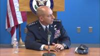 Gen. Jeffrey L. Harrigian briefs at the New York Foreign Press Center