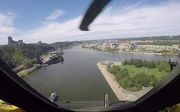 Pittsburgh Steelers Flyover- Cockpit