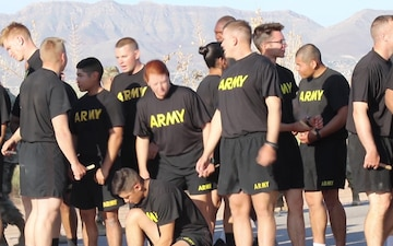Army medics take APFT before Expert Field Medical Badge competition