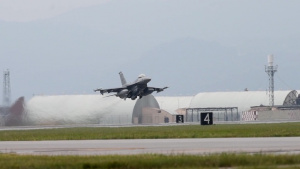 Triple Nickel F-16 Slow Motion Take Off