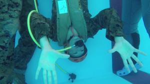 Marines conducts underwater egress training