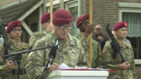 MG Gavin Memorial Wreath Laying Ceremony - MG Mingus Speech - B-roll