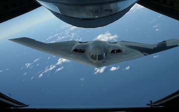 100th Air Refueling Wing flies in formation with B-2 Sept. 16, 2019