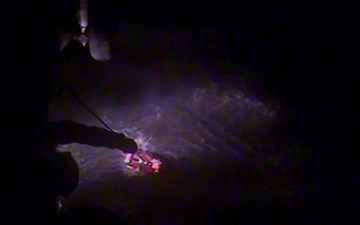 Coast Guard aircrew rescues hunter after vessel sinks in Three Saints Bay, Alaska