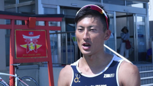 Americans, Japanese compete together in 32nd Annual MCAS Iwakuni Triathlon (Package/Pkg)