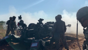 1-119 Field Artillery Direct Fire Mission at Camp Grayling