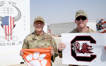 Lt. Bowen and MSgt Hart