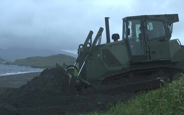 Marine Corps Engineers Conduct Route Clearing Operations in Adak