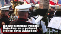 Marines honor Pendleton's 77th anniversary during evening colors ceremony