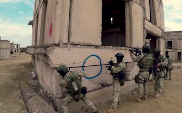 Georgia Defense Forces Special Operations Force Military Operations on Urban Terrain Training - Exercise Agile Spirit 2019 - B-roll