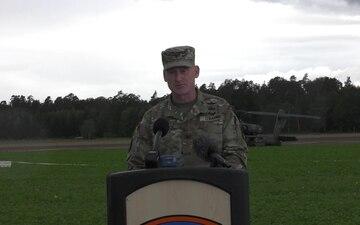 12th Combat Aviation Brigade unexpected landing press brief