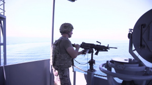 US army vessel Major General Charles P. Gross Drills
